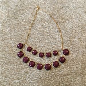 Jewelry - Burgundy and Gold Two Layer Statement Necklace